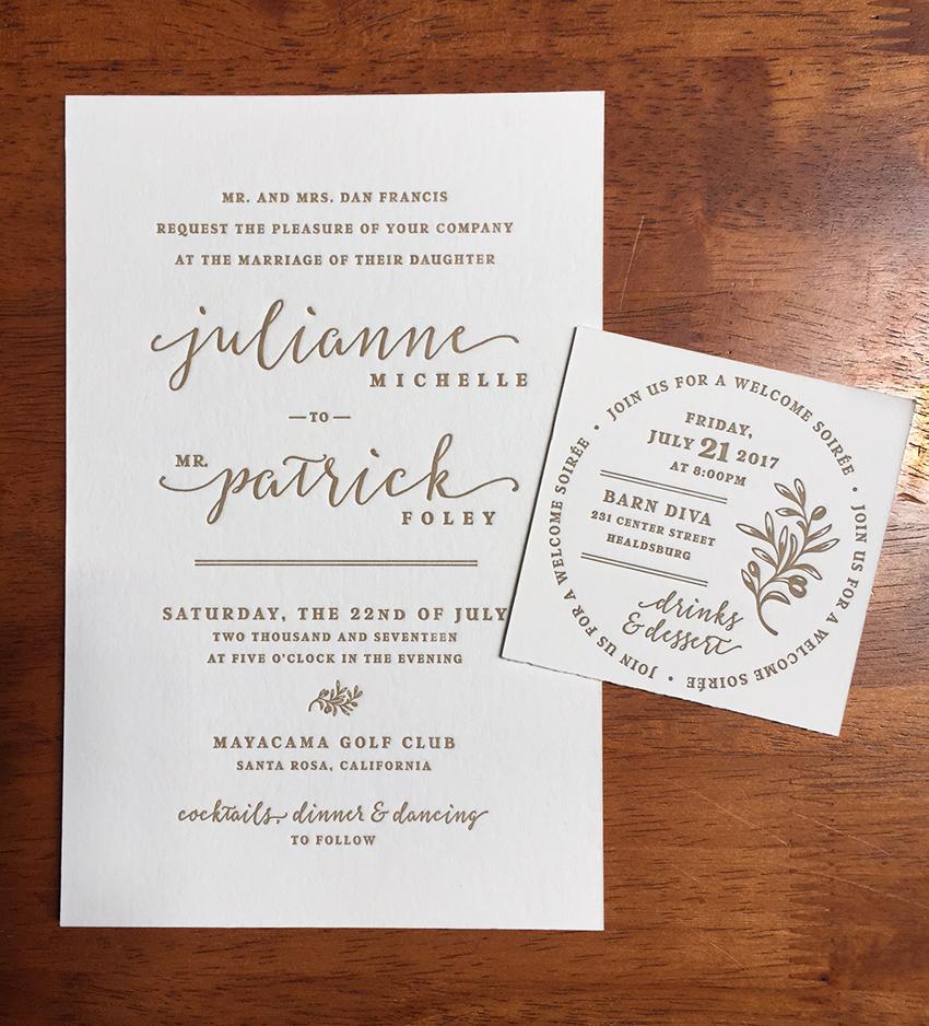 Wedding invites — Reb Peters Press