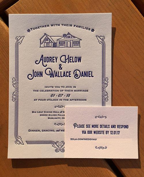 Wedding Invites Reb Peters Press