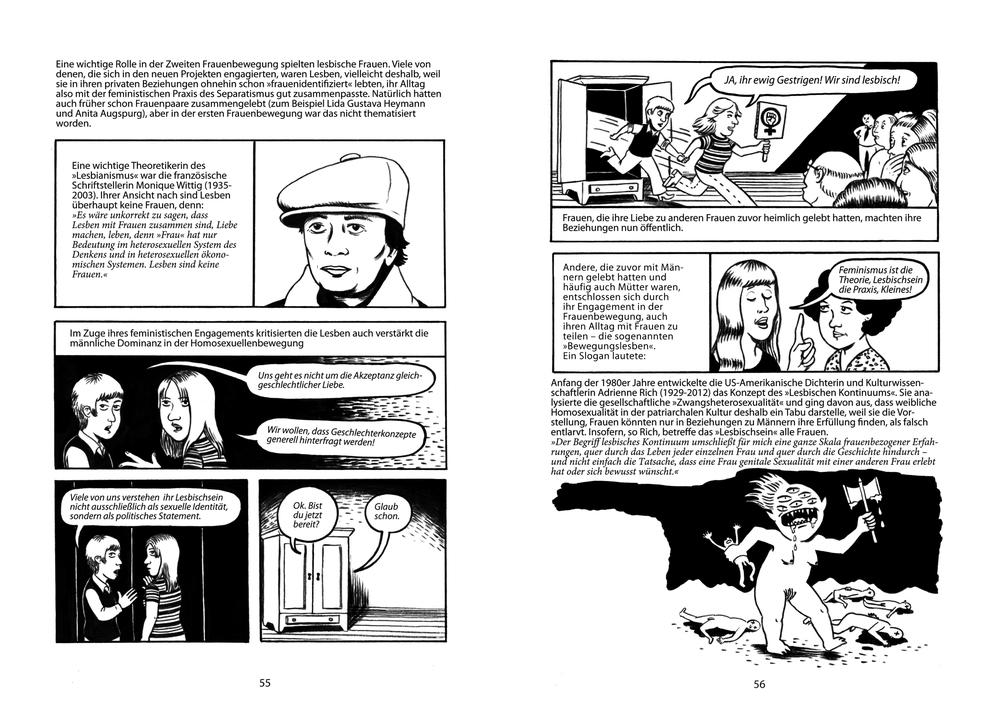 Die 2. Auflage des Comics ist da! Wir haben 2 neue Seiten zu der wichtigen Rolle der Lesben dazugefügt, die ihr hier anschauen und downloaden könnt.   hier clicken für download