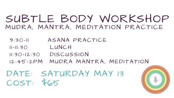 Subtle Body workshop at Essencia Yoga Teacher Training