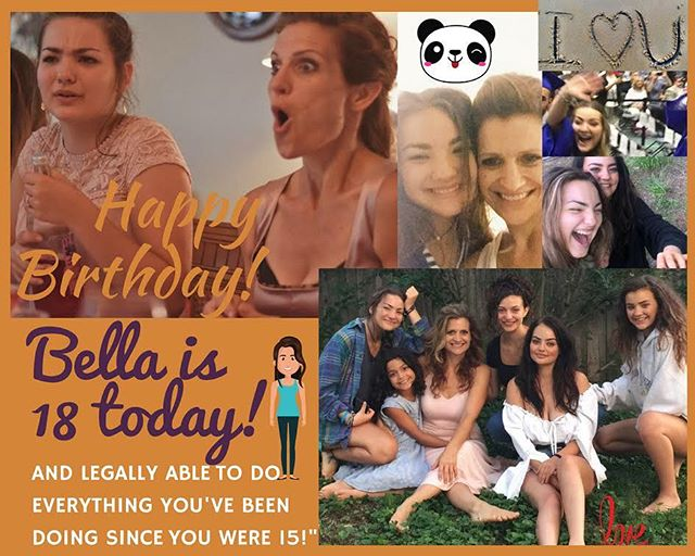 Happy 18!  Beautiful Bella!  Love you with all my heart! #18thbirthday #18yearsold #motherofadults #bella #clarabella