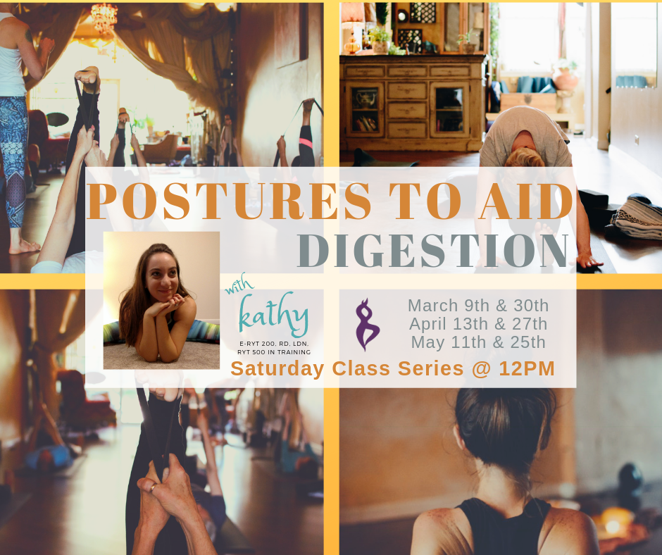 This class series will vary from month to month on the particular area of focus pertaining to the Digestive System.