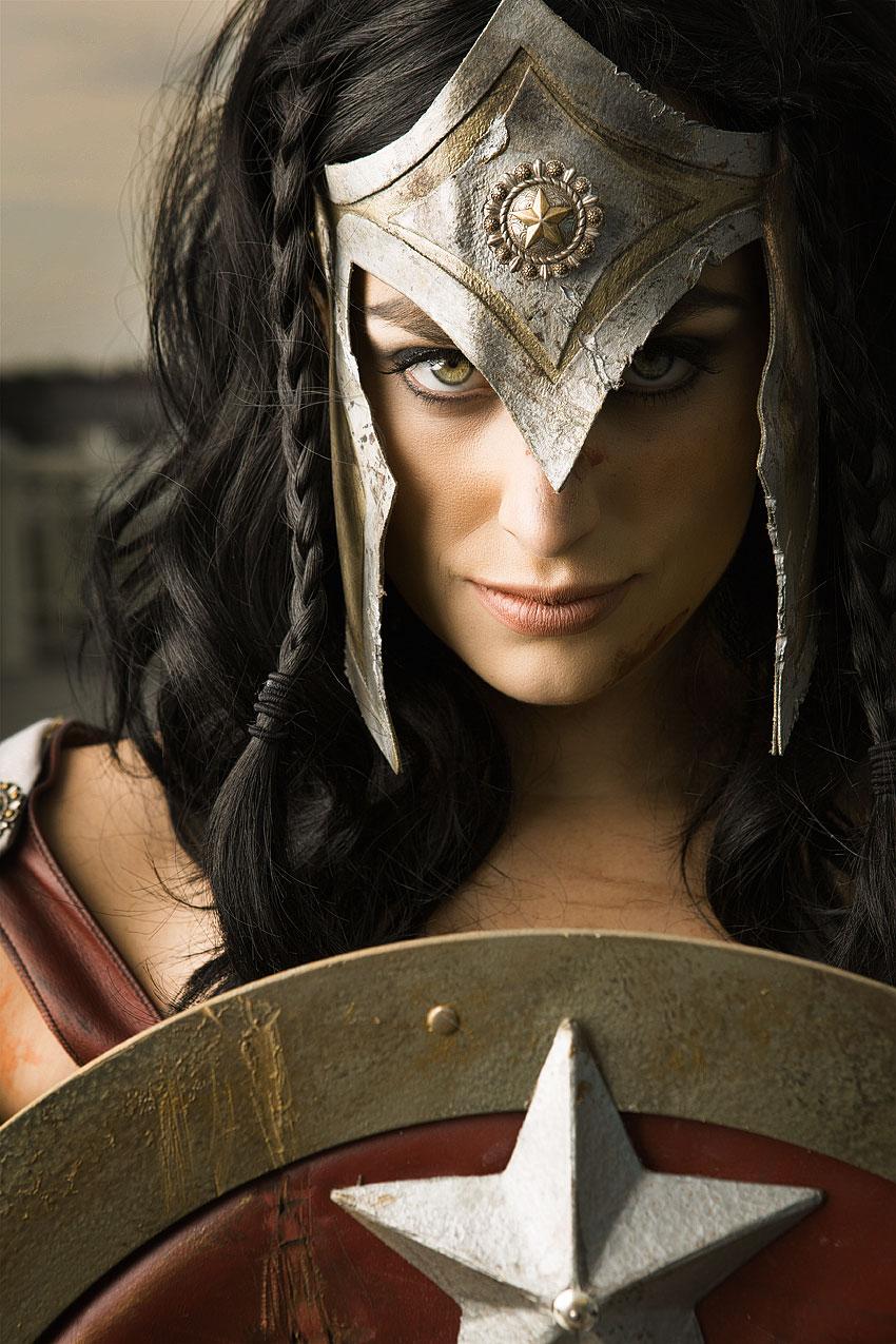 Meagan Marie as Gladiator Wonder Woman of DC Comics