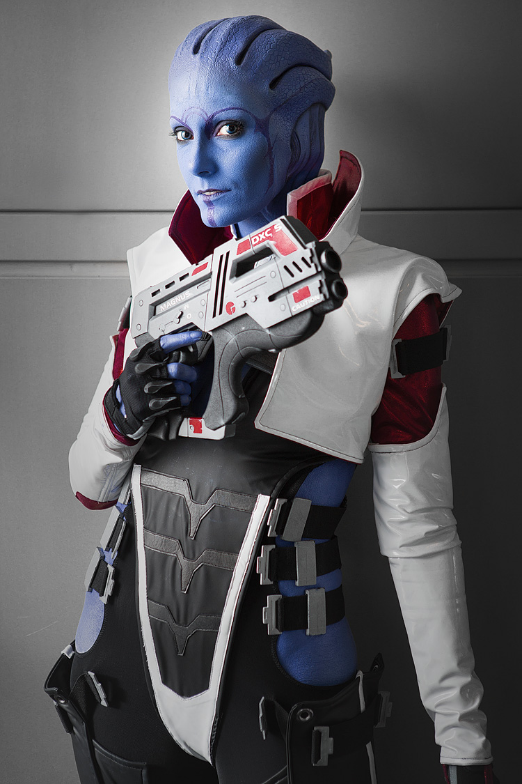 Felicia McLellan as Aria T'Loak of Mass Effect