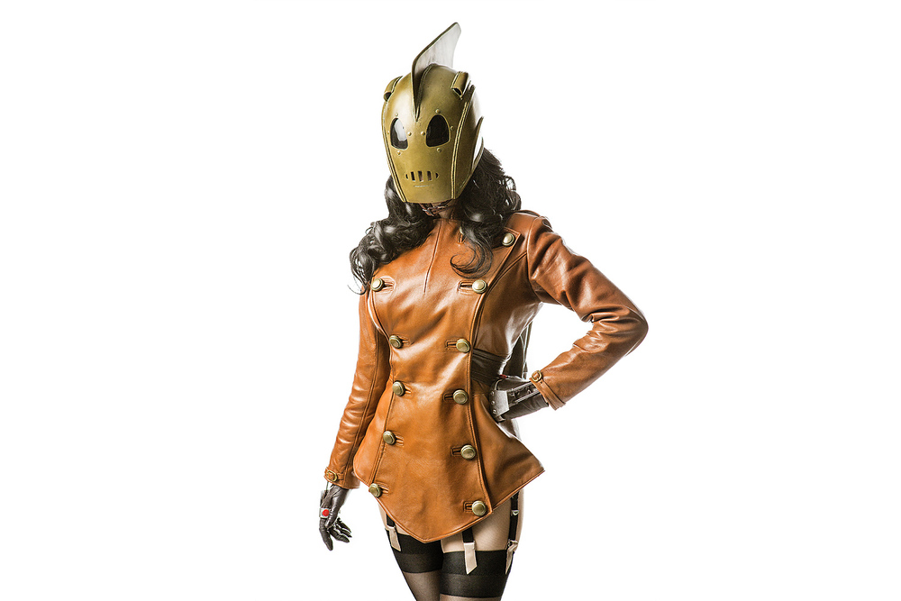 Riki LeCotey as Female Rocketeer of Disney's The Rocketeer