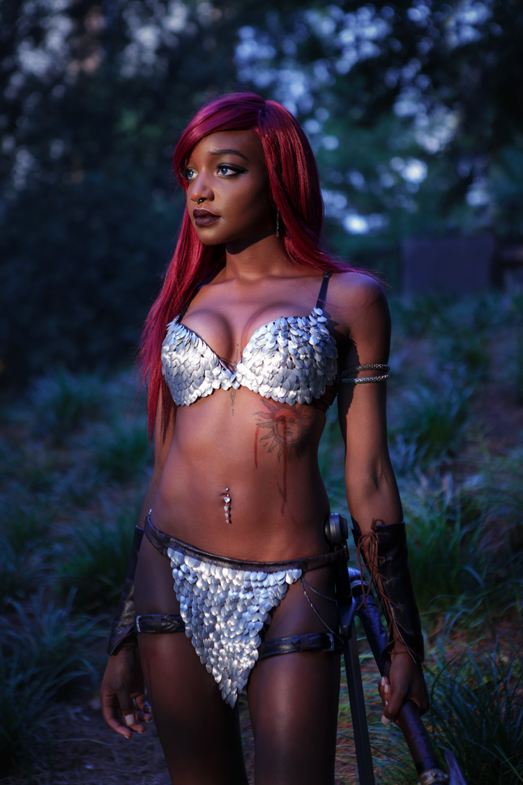 Kaybear as Red Sonja