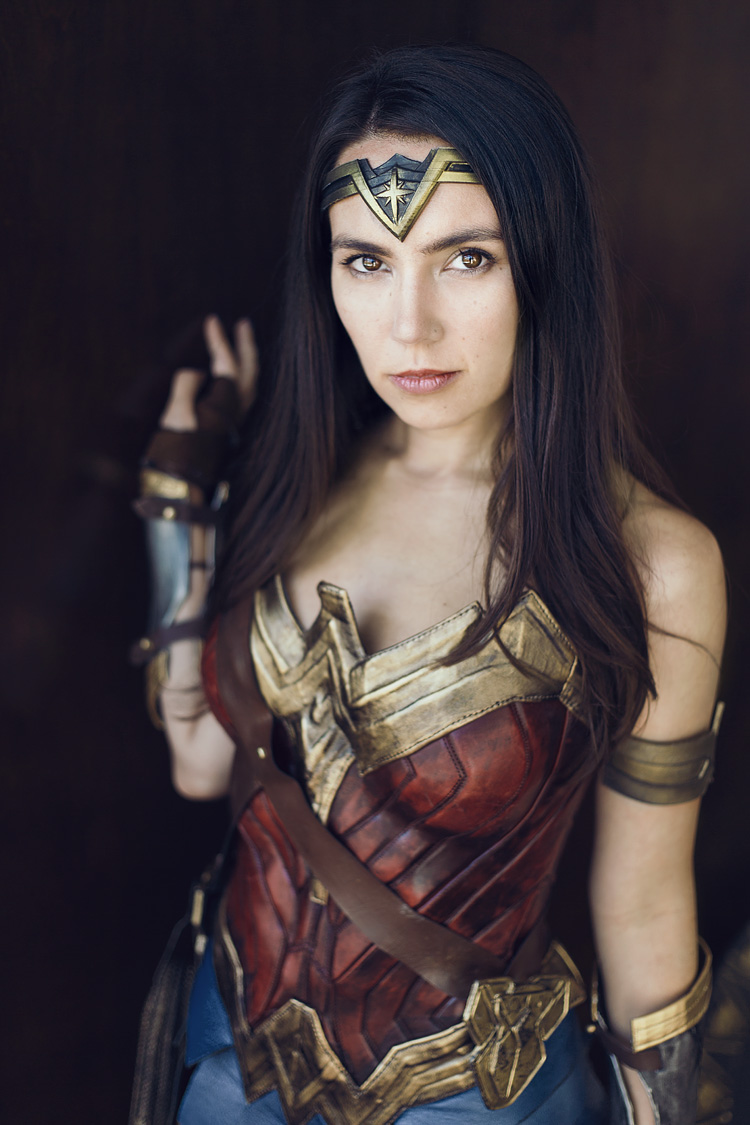 Wonder Woman modeled by Trisha Hershberger / DC Comics