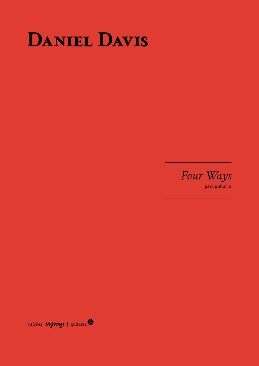 Four Ways for Guitar, mpmp editions front cover