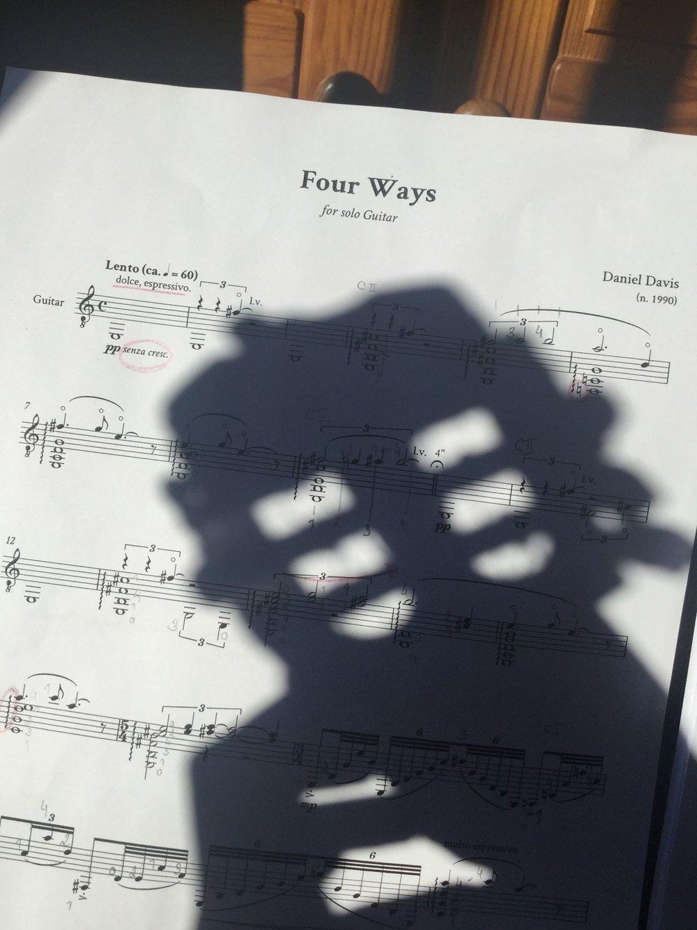 Four Ways, work in progress, 2016