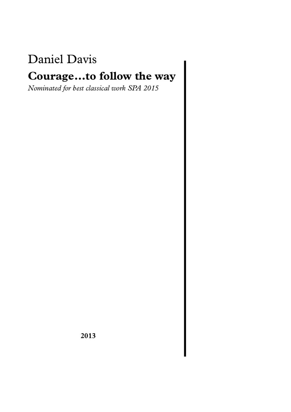 cover's - Courage...to follow the way.jpg