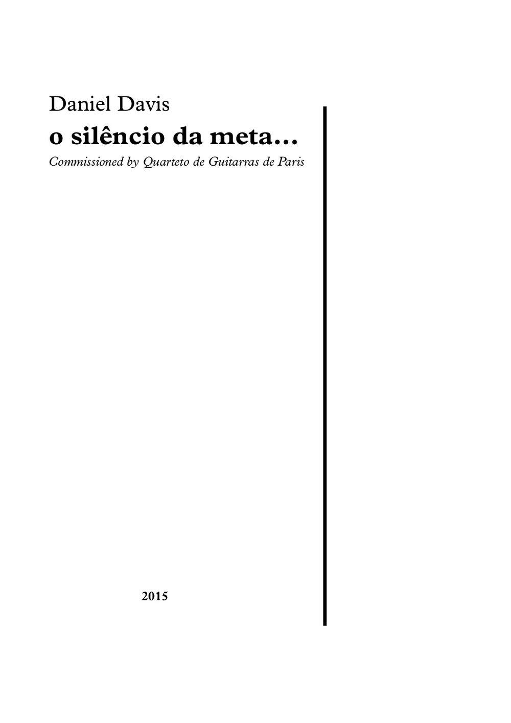 o silêncio da meta... (2015)