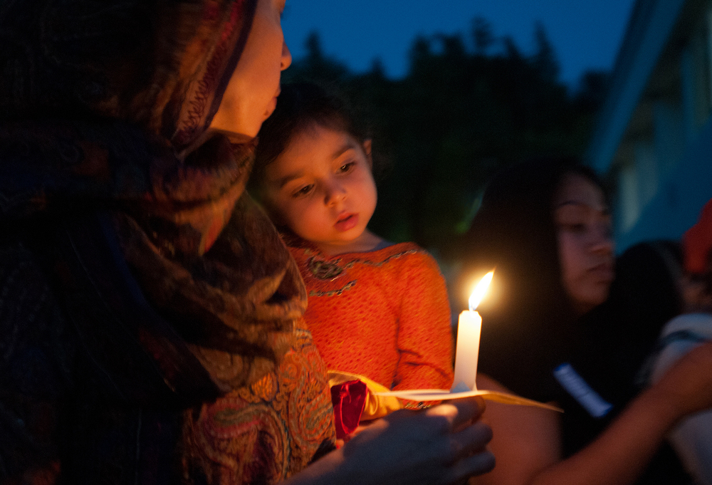 Candlelight vigil at a Sikh temple, Faith Action Network