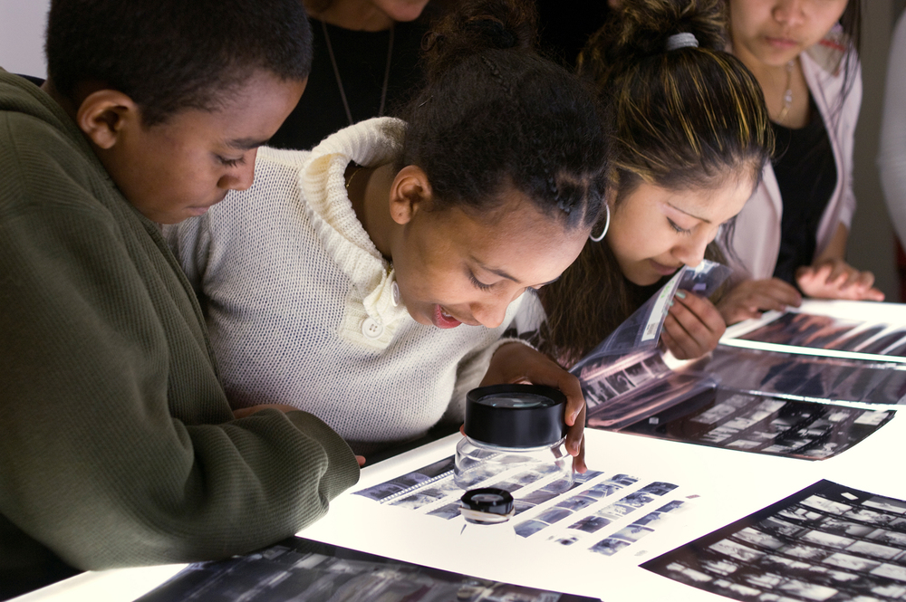 Seattle World School students enjoy the craft of photography