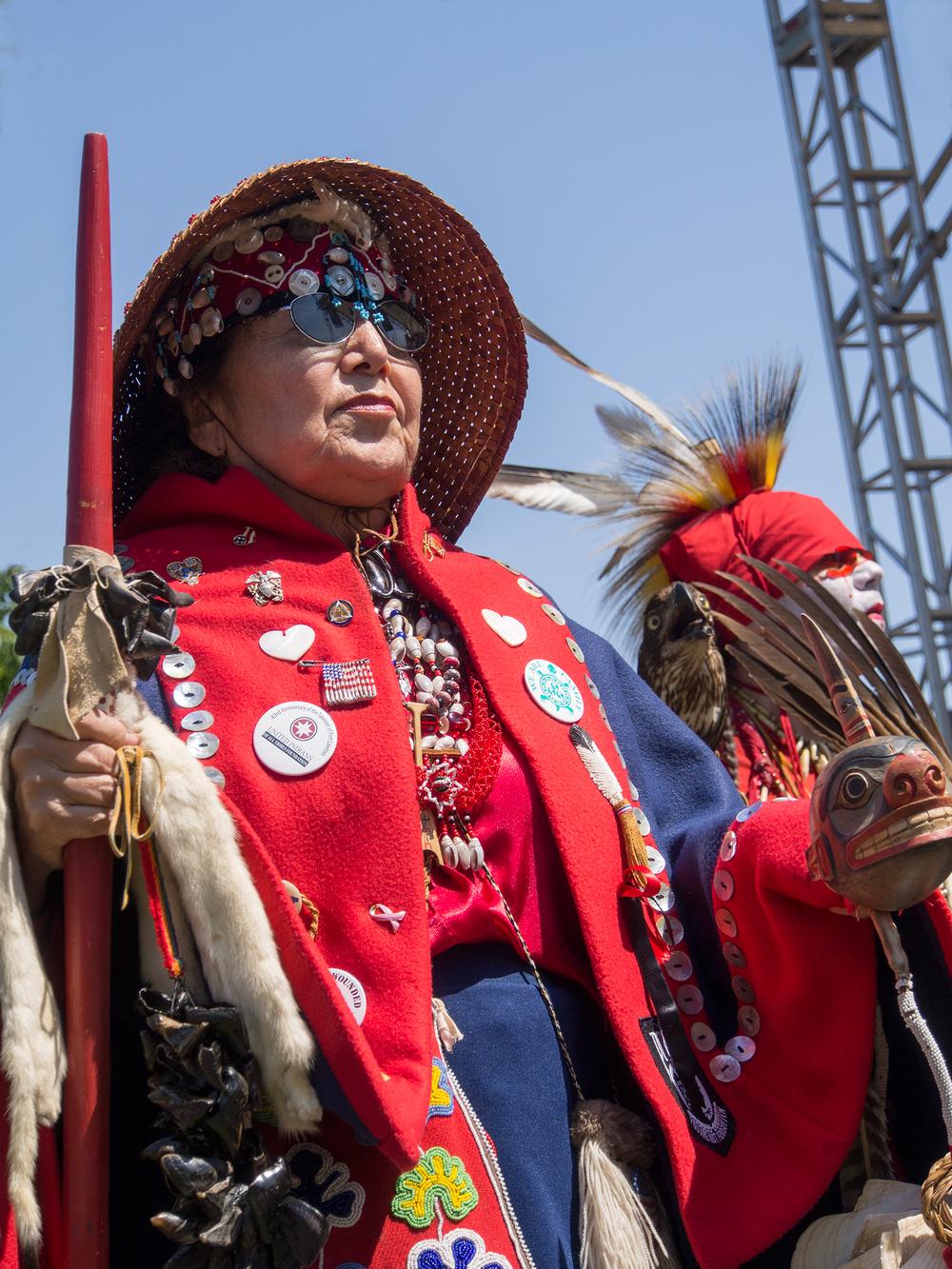 Native American Veteran at Folklife festivities