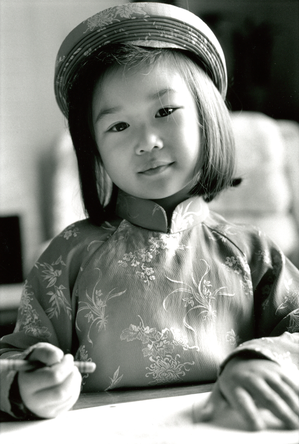 American girl in her traditional Vietnamese clothing, Key Links Community Access Guide