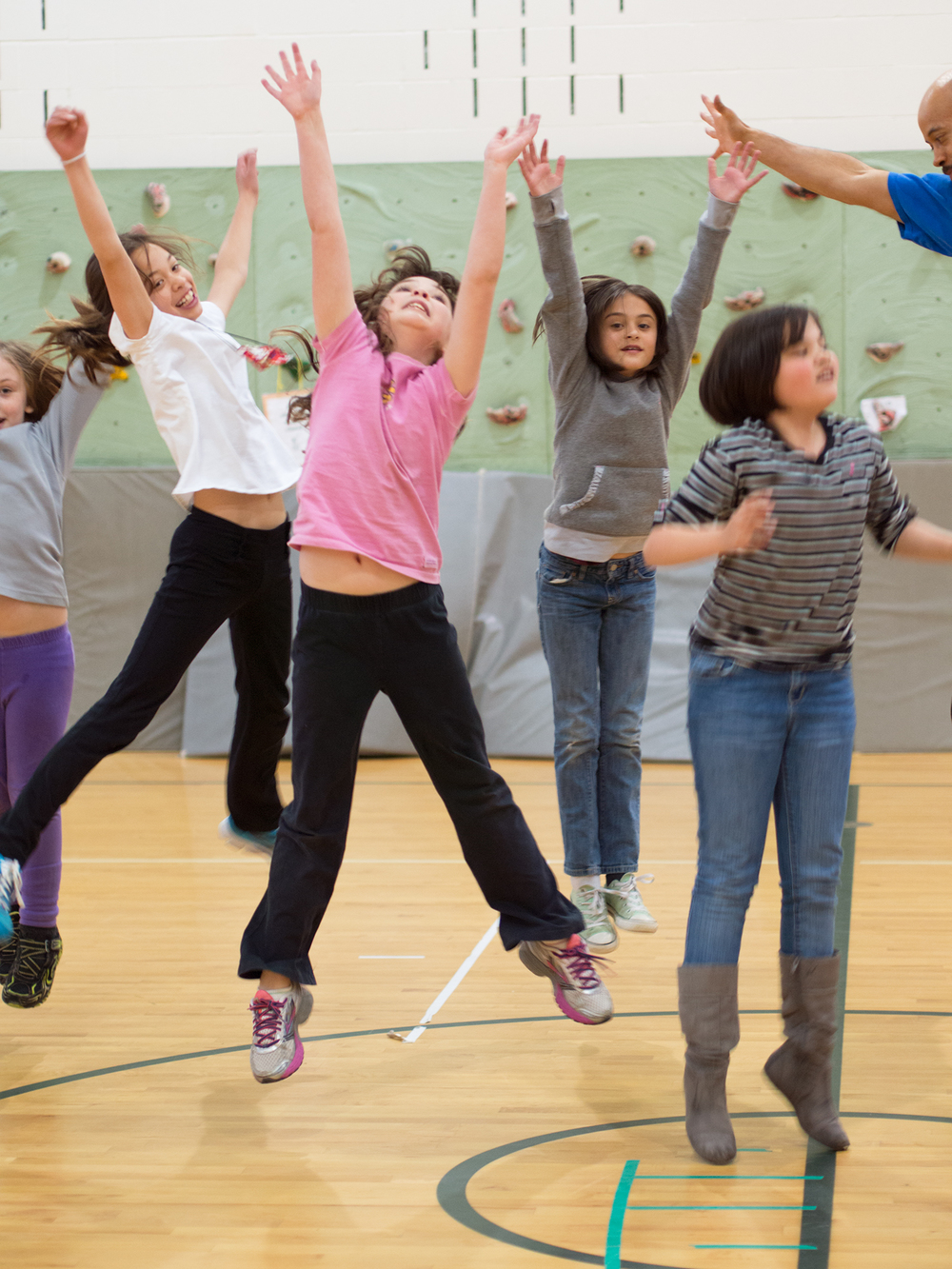 Elementary PE students seize the moment, Dance Daigre