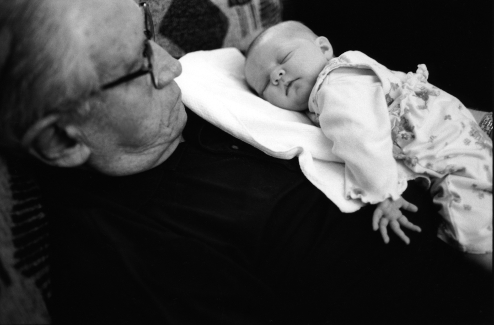My Dad with 1st great grandchild, 2003 ©Stefanie Felix