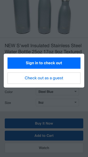 Mobile Web Directional Modal