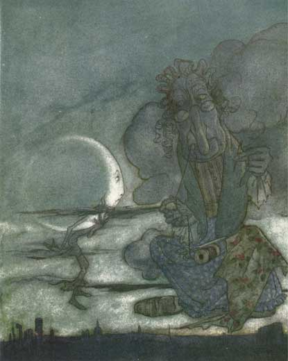 The Moon and Her Mother: Rackham