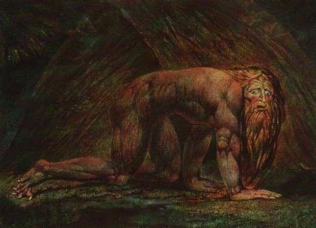William Blake - Nebuchadnezzar
