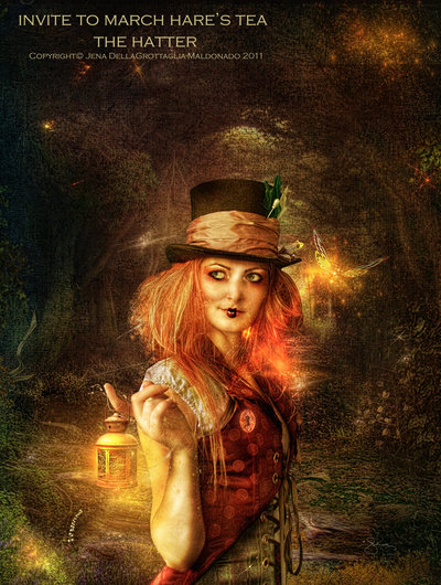 """Invite To March Hare's Tea"" by http://autumnsgoddess.deviantart.com/"
