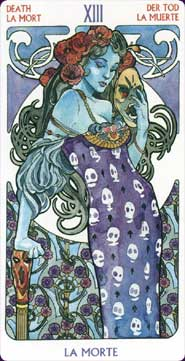 Death from the Tarot Art Nouveau deck
