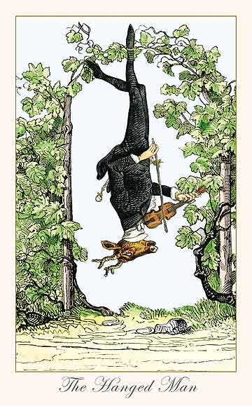 Hanged Man from the Fantastic Menagerie Tarot