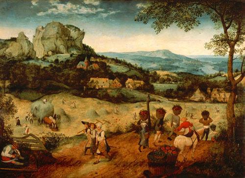 Harvesting-brueghel