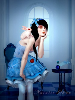 """Alice and White Rabbit"" by http://natalieshau.deviantart.com/"