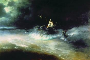 """""""Travel of Poseidon By Sea"""" by Ivan Aivazovsky"""