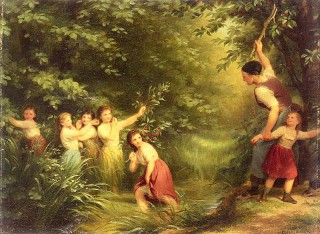 """The Cherry Thieves"" by Fritz Zuber Buhler"