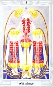 3 of Cups from the Thoth Tarot deck