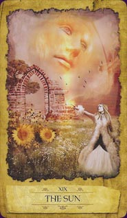 """The Sun"" from the Mystic Dreamer Tarot"