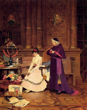 Painting by Jehan Georges Vibert
