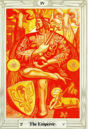 """The Emperor"" from the Thoth Tarot deck"