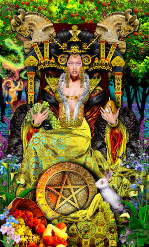 """Queen of Pentacles"" from the Tarot Illuminati"