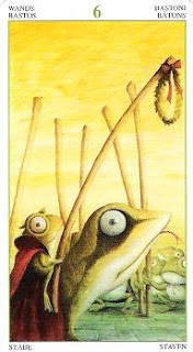 6 of Wands from Tarot of the Magical Forest
