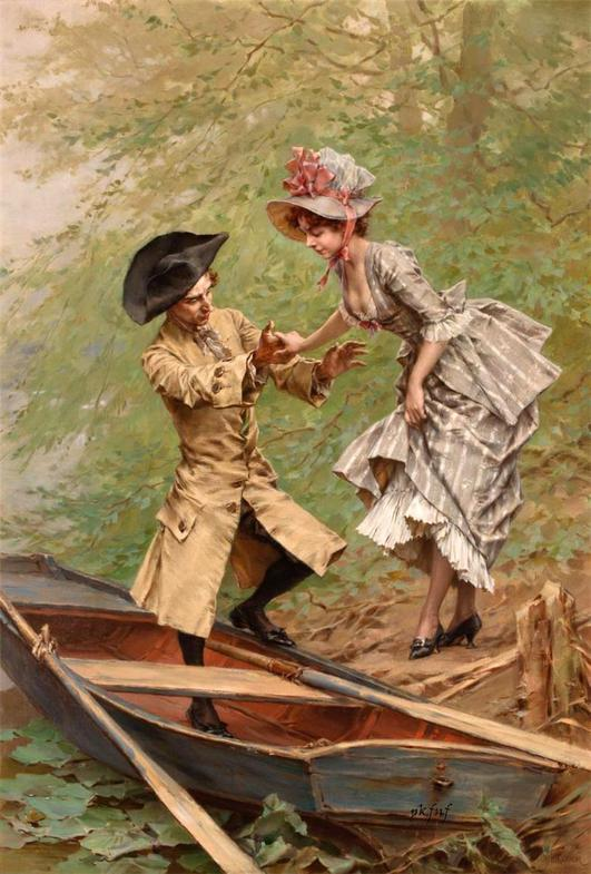 Painting by George Jules Victor Clarin