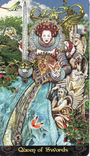 """Queen of Swords"" from the Tarot Illuminati"