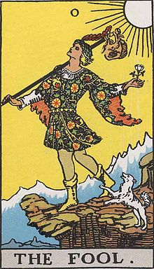 The Fool from the Rider-Waite Tarot