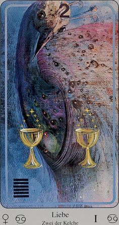 Two of Cups from the Haindl Tarot
