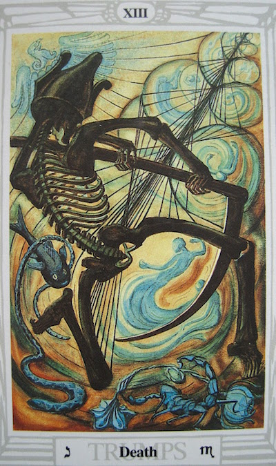 """Death"" from the Thoth Tarot"