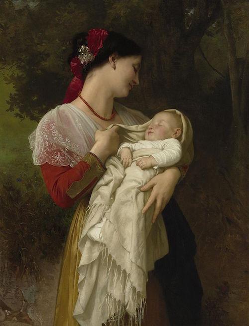 William-Adolphe Bouguereau (1825-1905) - Maternal Admiration (1869)