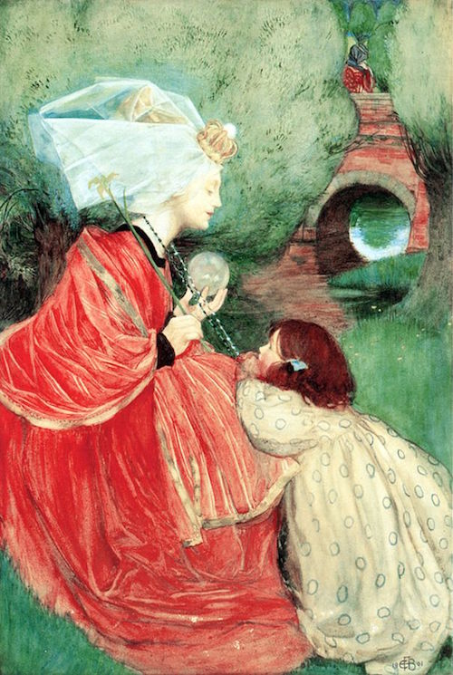 "Eleanor Fortescue-Brickdale (1871-1945), ""Today for Me"" - Public Domain https://commons.wikimedia.org"