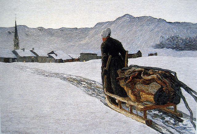 "By Giovanni Segantini, 1890, ""Rückkehr vom Wald"":  Public Domain, https://commons.wikimedia.org"
