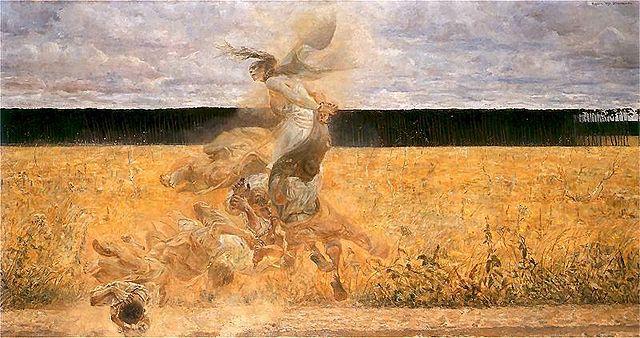 """Jacek Malczewski, 1893-1894, """" W tumanie"""" - Public Domain, https://commons.wikimedia.org"""