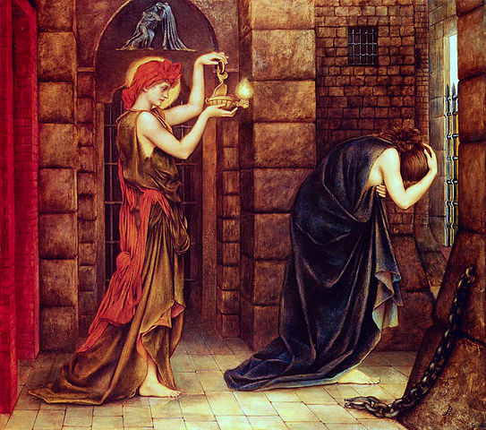 "Evelyn De Morgan, 1887, ""Hope in a Prison of Despair"" -Public Domain, https://commons.wikimedia.org"