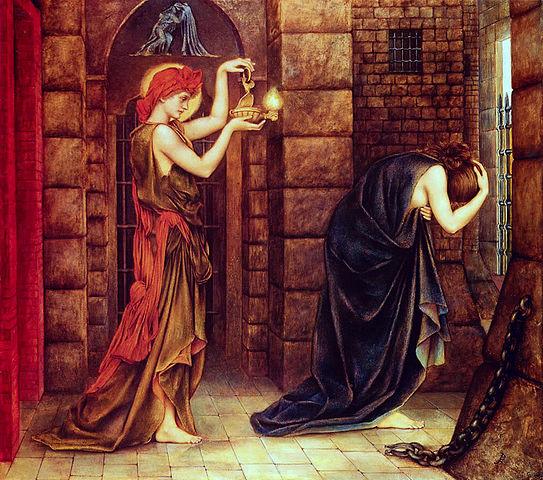 "Evelyn De Morgan, 1887, ""Hope in a Prison of Despair"" -Public Domain, https://commons.wikimedia.org"