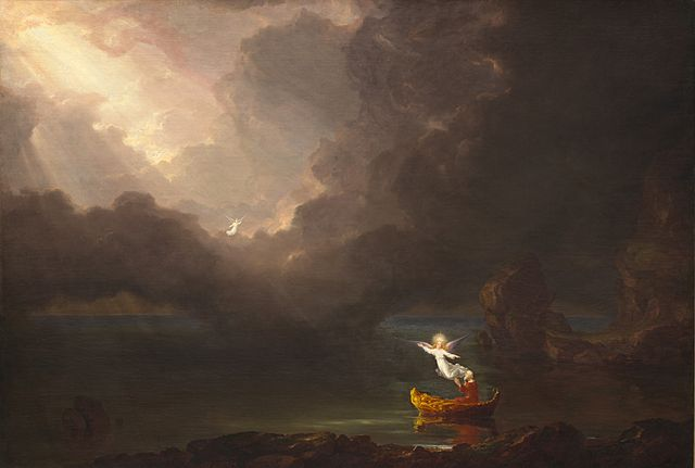 "Thomas Cole, 1842, ""The Voyage of Life Old Age"" - Public Domain, https://commons.wikimedia.org"