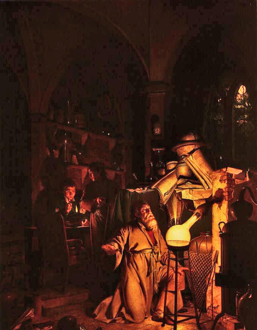 "Joseph Wright ""Alchemist"" Public Domain, https://commons.wikimedia.org"